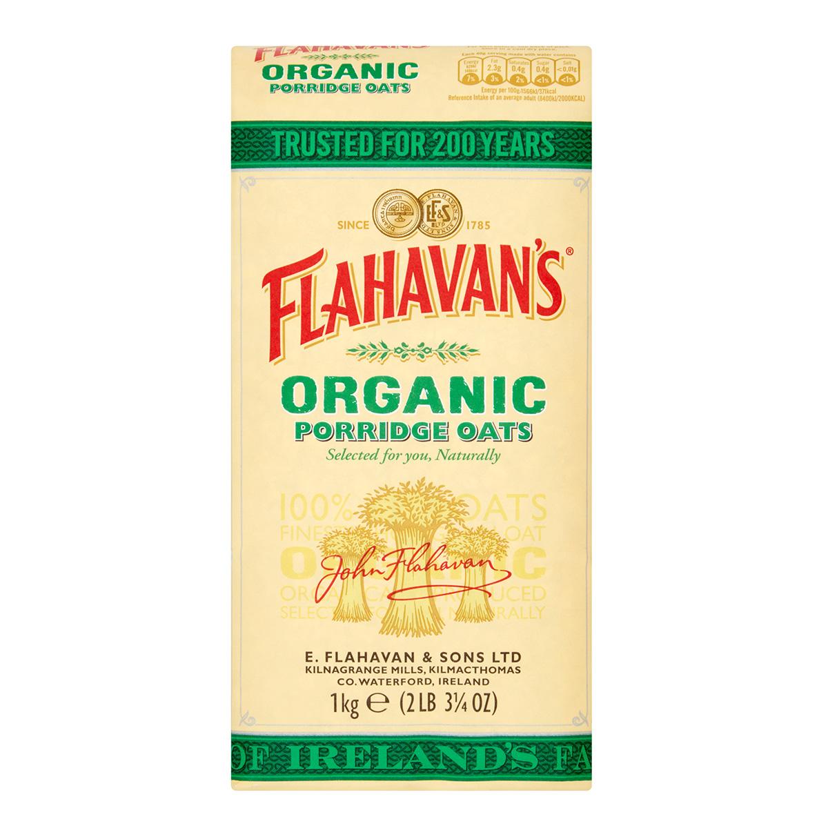 Flahavan's Organic Jumbo Oats (1kg)