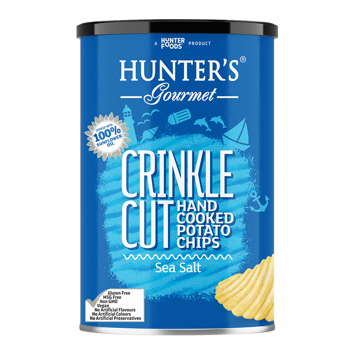 Hunter's Gourmet Hand Cooked Crinkled Chips – Red Tomato Salsa (140gm)