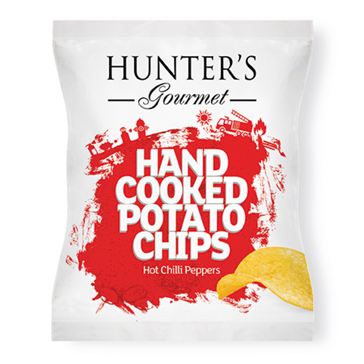 Hunter's Gourmet Hand Cooked Potato Chips – Sea Salt & Crushed Black Pepper (125gm)