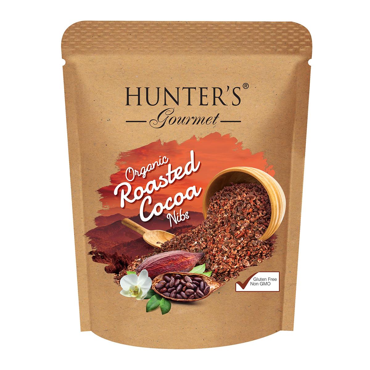 Hunter's Gourmet Organic roasted Cocoa Nibs  – Cocoa Nibs (300gm)
