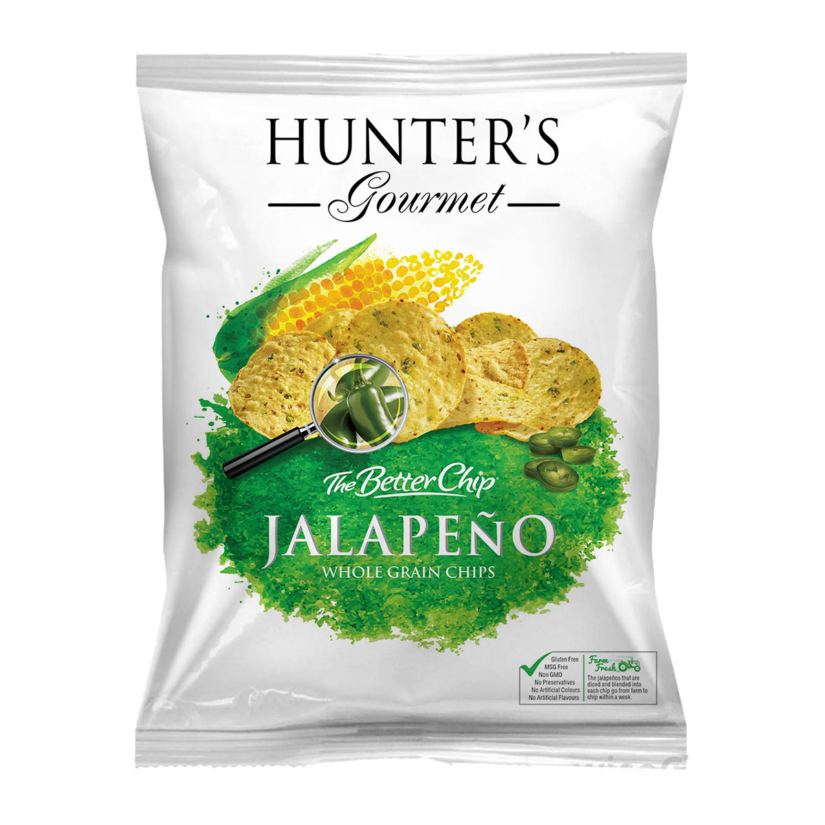 Hunter's Collection Root Chips – Naturally Original Sea Salt (120gm)