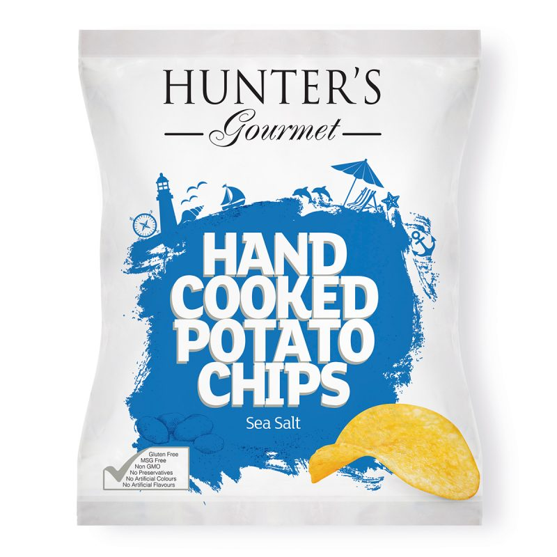 Hand Cooked Potato Chips - Sea Salt  (125gm)