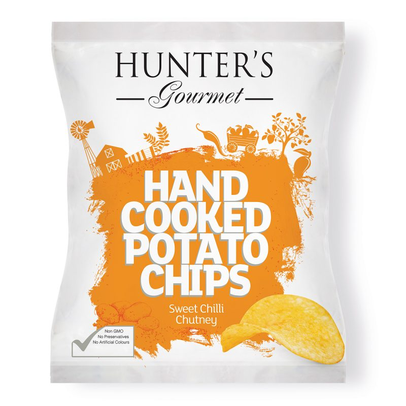 Hand Cooked Potato Chips - Sweet Chilli Chutney (125gm)