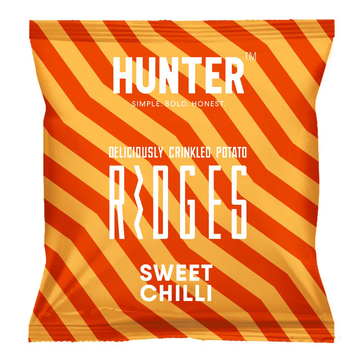 Deliciously Crinkled Potato Ridges - Sweet Chilli (40gm)