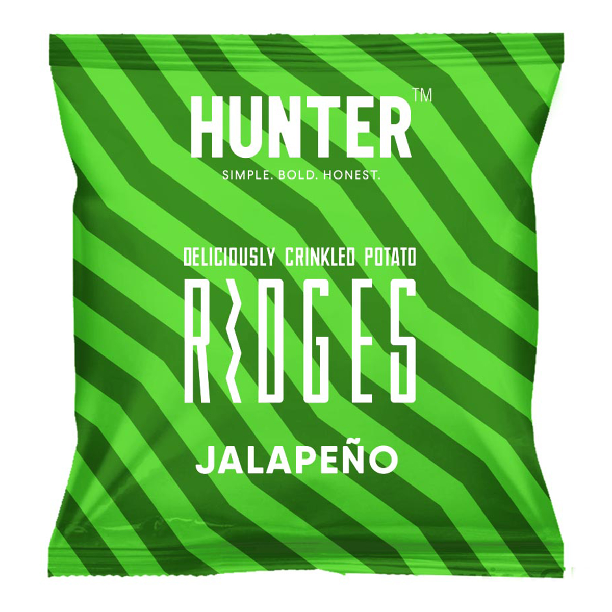 Deliciously Crinkled Potato Ridges - Jalapeno (40gm)