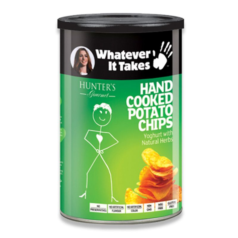 Hand Cooked Potato Chips - Whatever It Takes - Yoghurt with Natural Herbs (150gm)