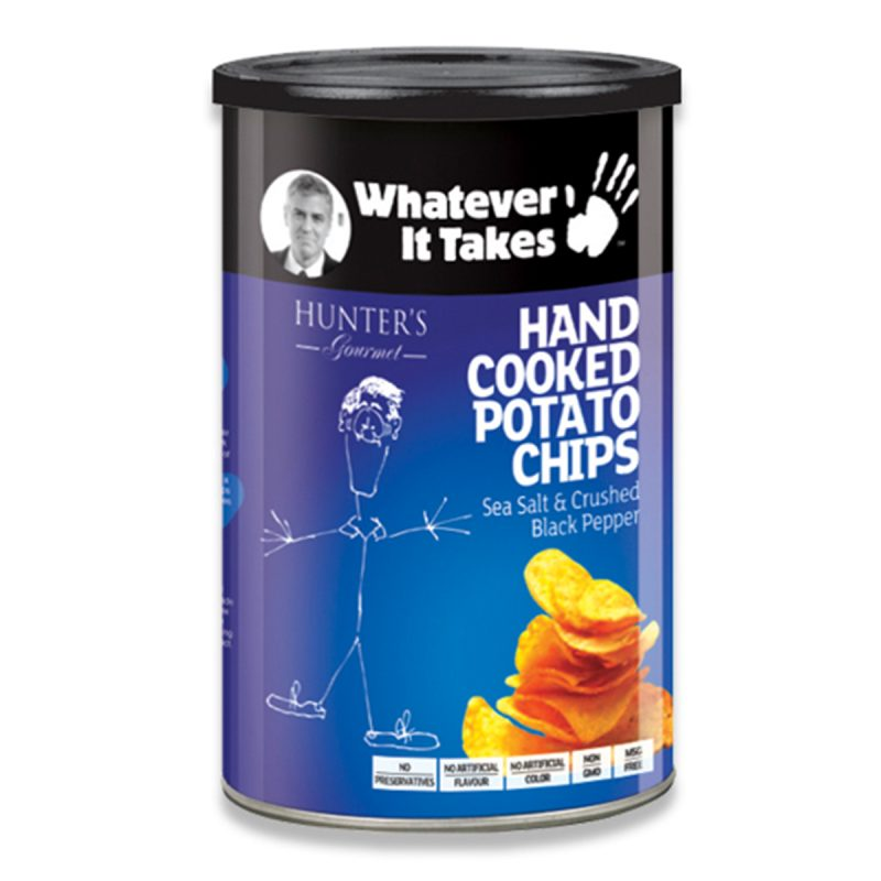 Hand Cooked Potato Chips - Whatever It Takes - Sea Salt & Crushed Black Pepper (150gm)