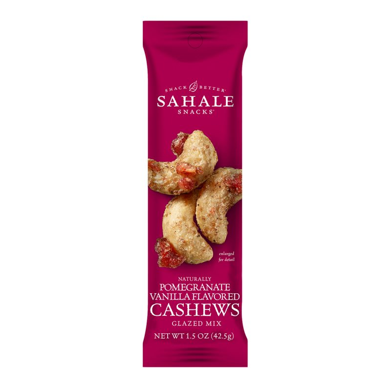 Glazed Nuts - Pomegranate Vanilla Flavoured Cashews Glazed Mix (42.5gm)