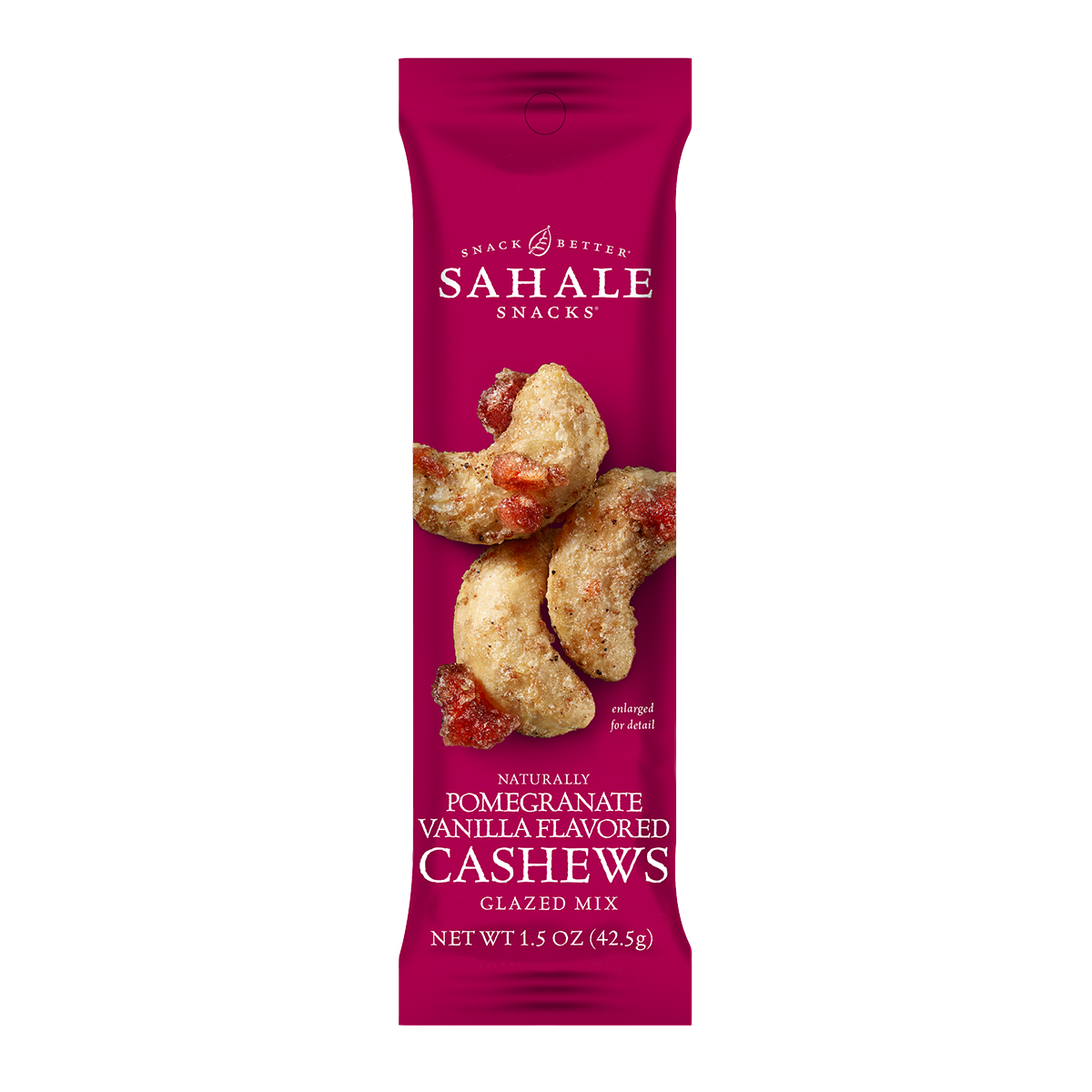 Hunter's Collection Sahale Snacks , Glazed Nuts – Pomegranate Vanilla Flavoured Cashews Glazed Mix (113gm)