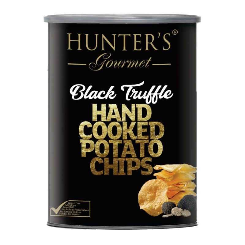 Hunter's Gourmet Hand Cooked Potato Chips – Black Truffle – Gold Edition (150gm)