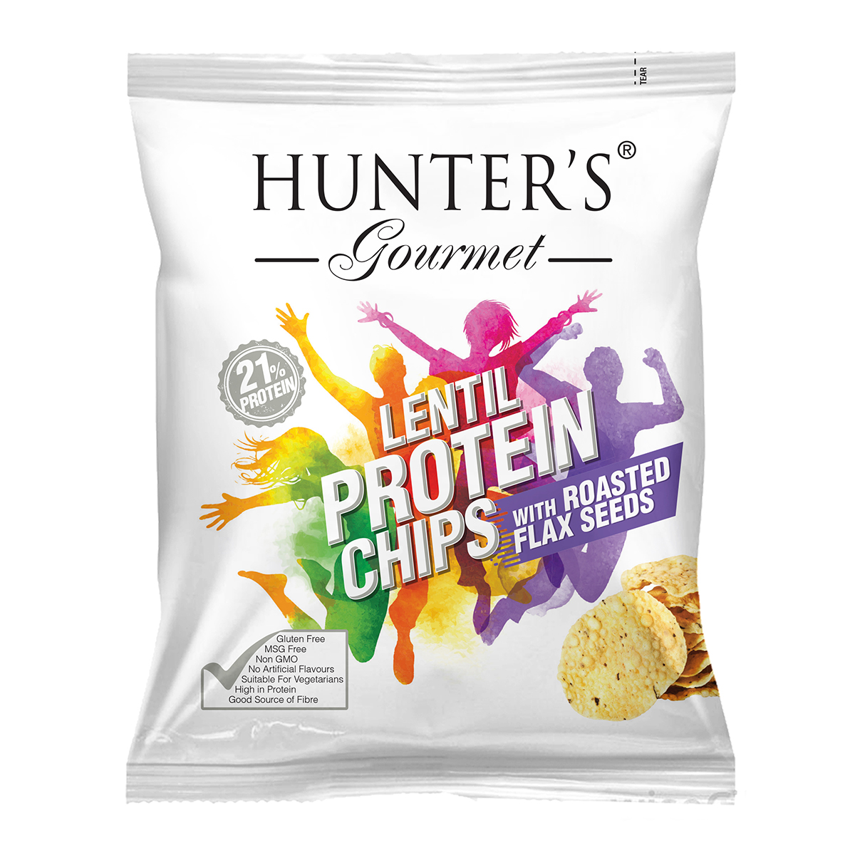 Hunter's Gourmet lentil-protein-chips-with-roasted-flax-seeds by Hunter Foods
