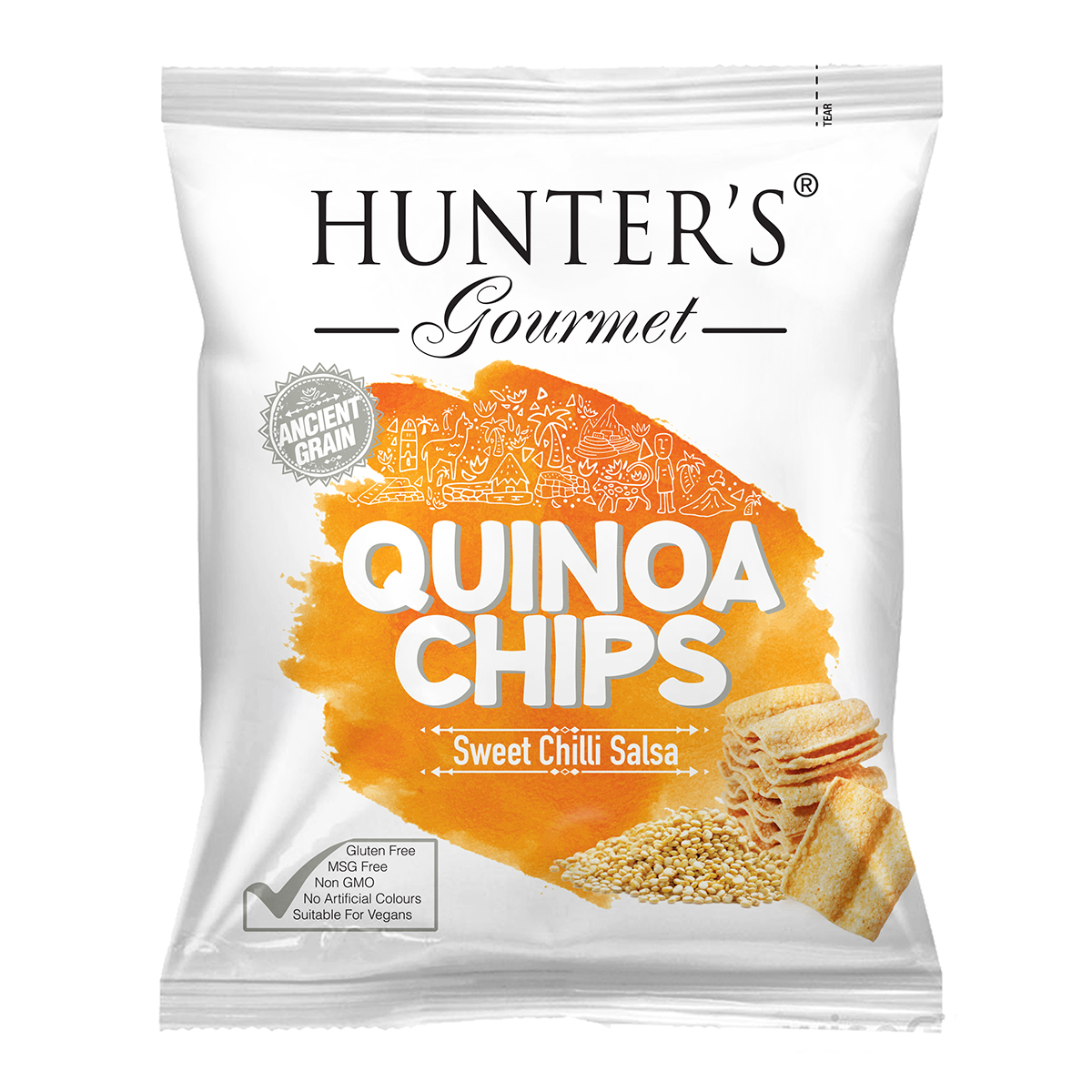 Hunter's Gourmet Quinoa Chips - Sweet Chilli Salsa (28gm)