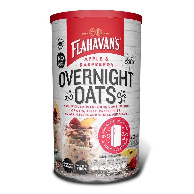 Flahavan's Apple & Raspberry Overnight Oats (450gm)