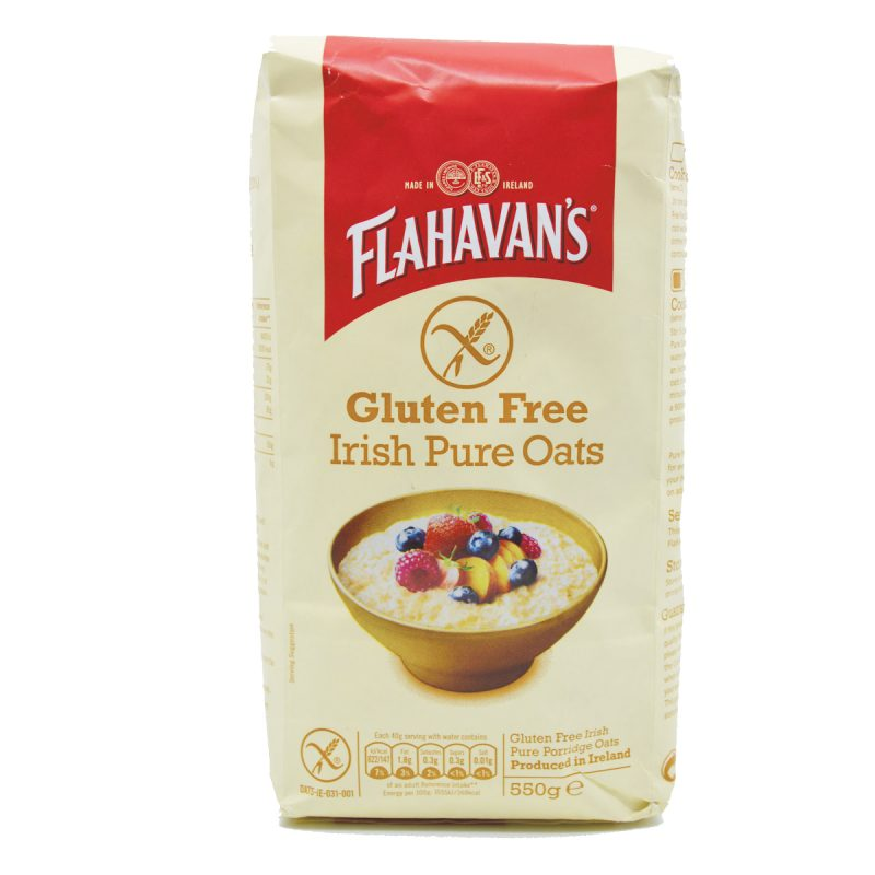 Flahavan's Gluten Free Irish Pure Oats (550gm)
