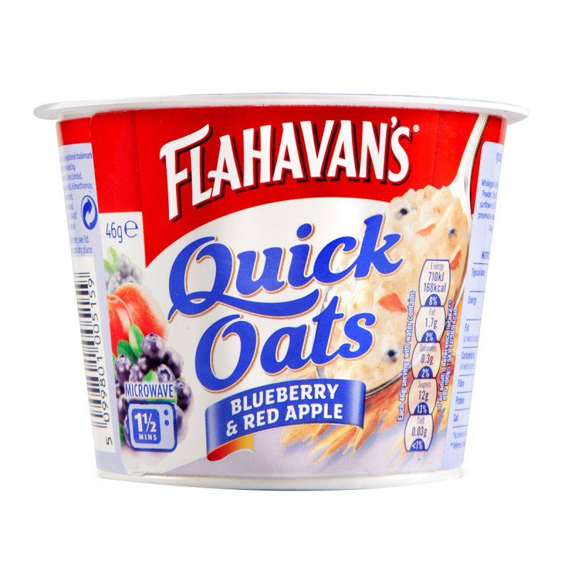 Flahavan's Quick Oats Blueberry & Red Apple (46gm)