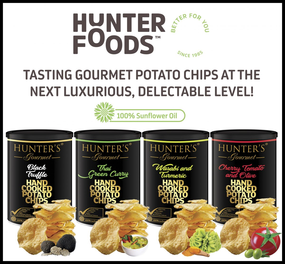 LAUNCH at Gulfood 2019: Hunter's Gourmet Hand Cooked Potato Chips, Gold Edition