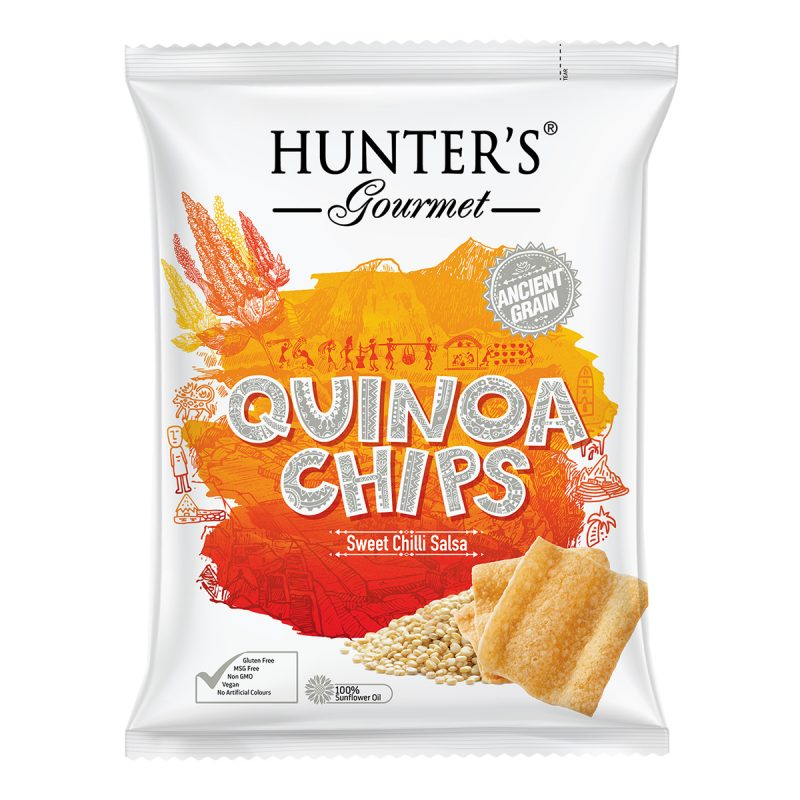Hunter's Gourmet Quinoa Chips – Sweet Chilli Salsa (75gm)