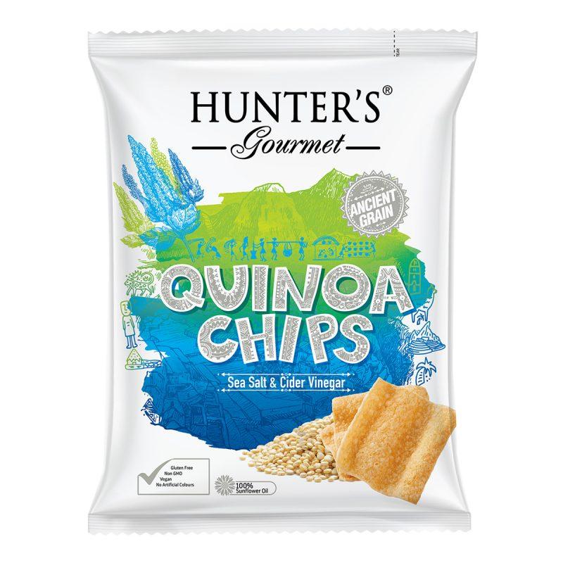 Hunter's Gourmet Quinoa Chips – Sea Salt & Cider Vinegar (75gm)