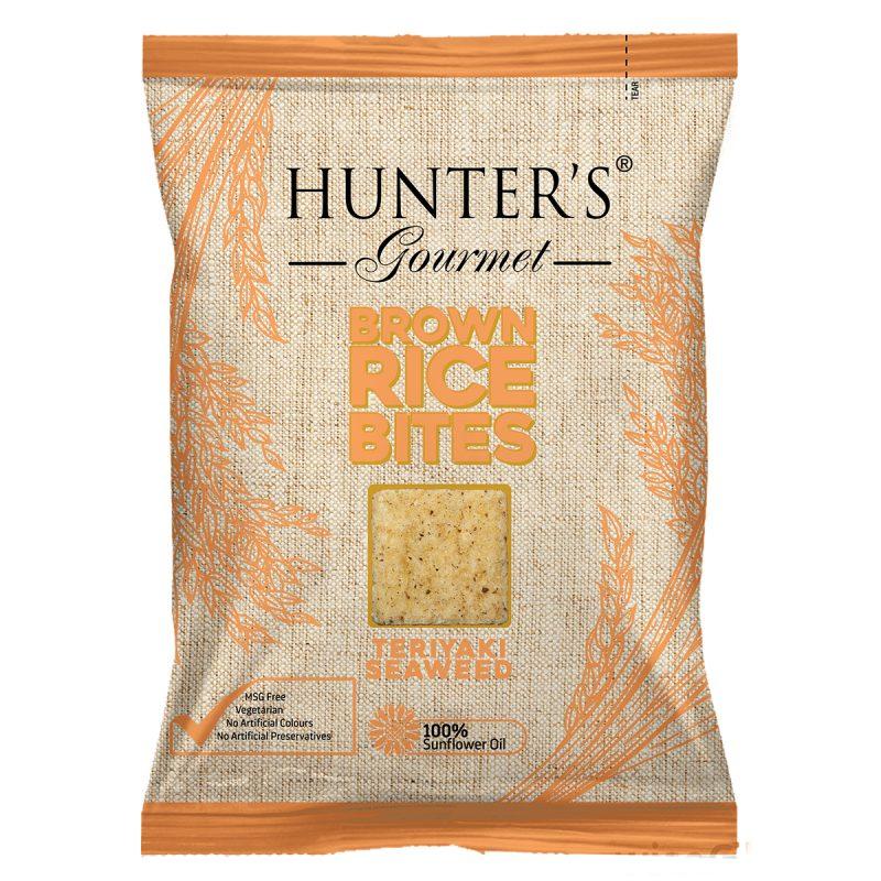 Hunter's Gourmet Brown Rice Bites Teriyaki Seaweed (50gm)
