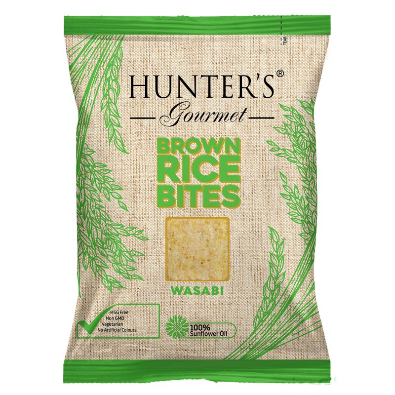Hunter's Gourmet Brown Rice Bites Wasabi (50gm)