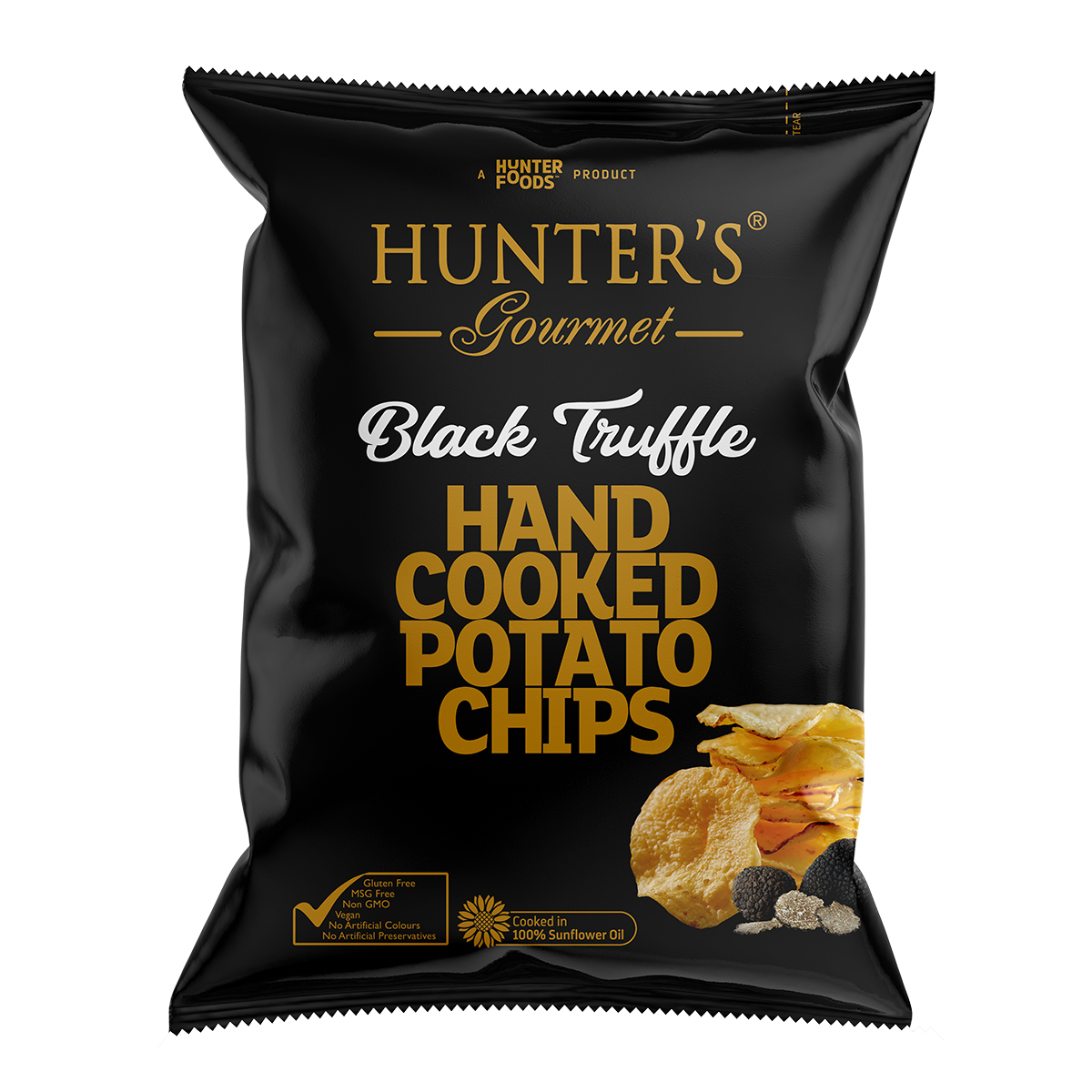 Black Truffle Hand Cooked Potato Chips 125gm