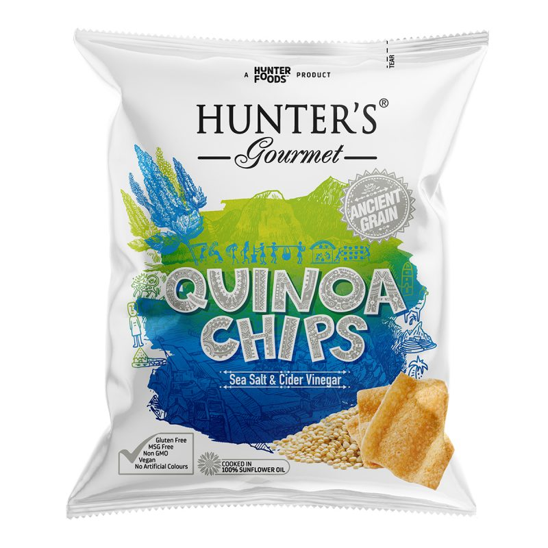 Hunter's Gourmet Quinoa Chips - Sea Salt & Cider Vinegar (28gm)
