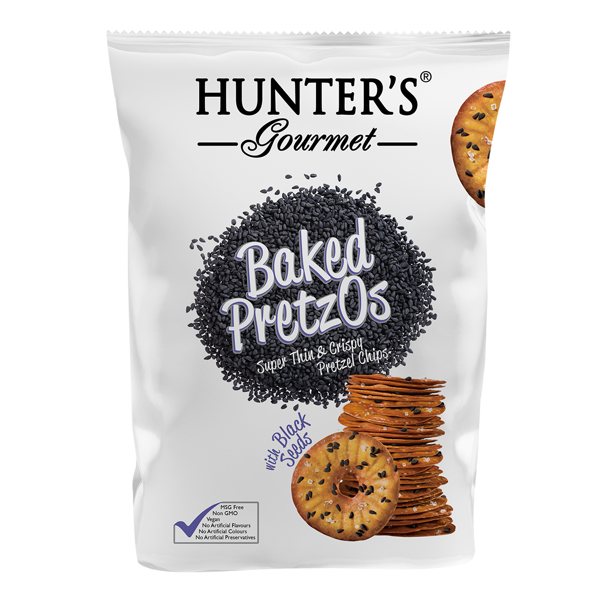 Hunter's Gourmet Baked PretzOs - with Black Seeds (180gm)