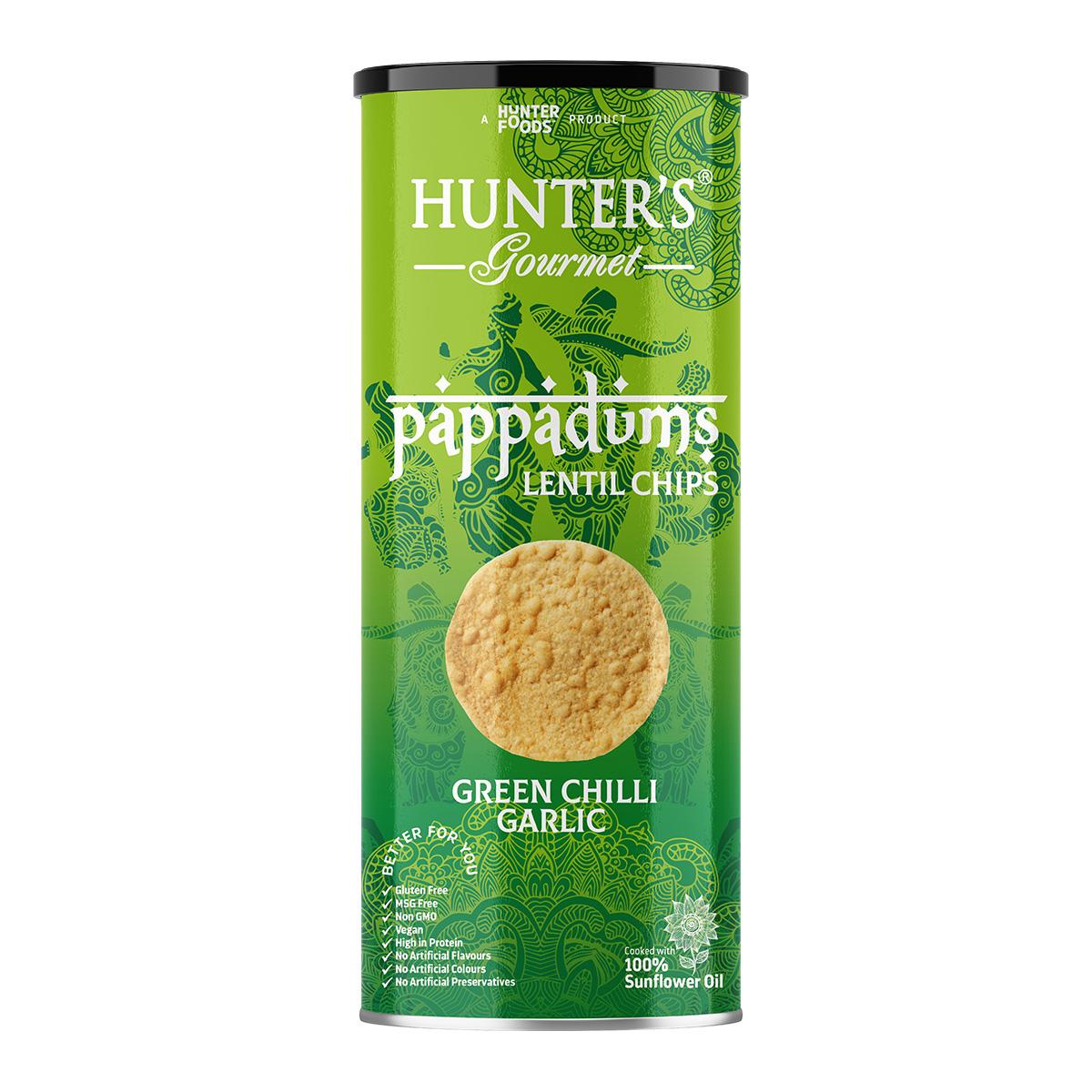 Hunter's Gourmet Pappadums – Kashmiri Red Chilli (120gm)