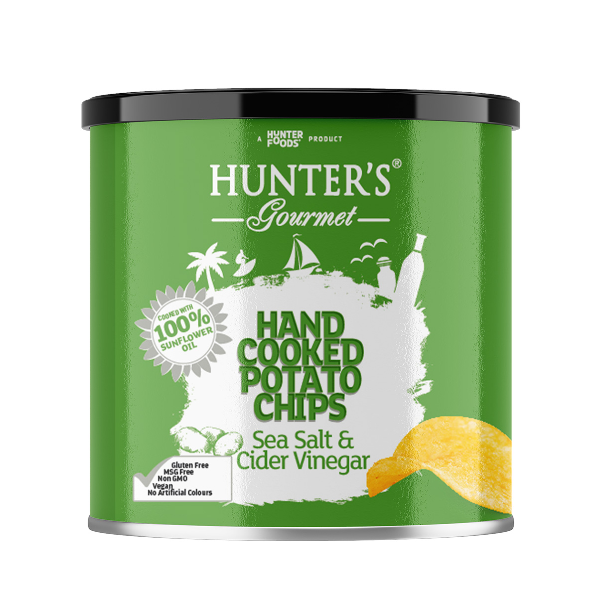 Hunter's Gourmet Hand Cooked Potato Chips – Hot Chilli Peppers (125gm)