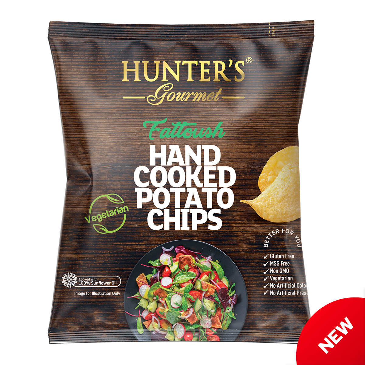 Hunter's Gourmet Hand Cooked Potato Chips – Shakshuka – Middle Eastern Flavours (150gm)