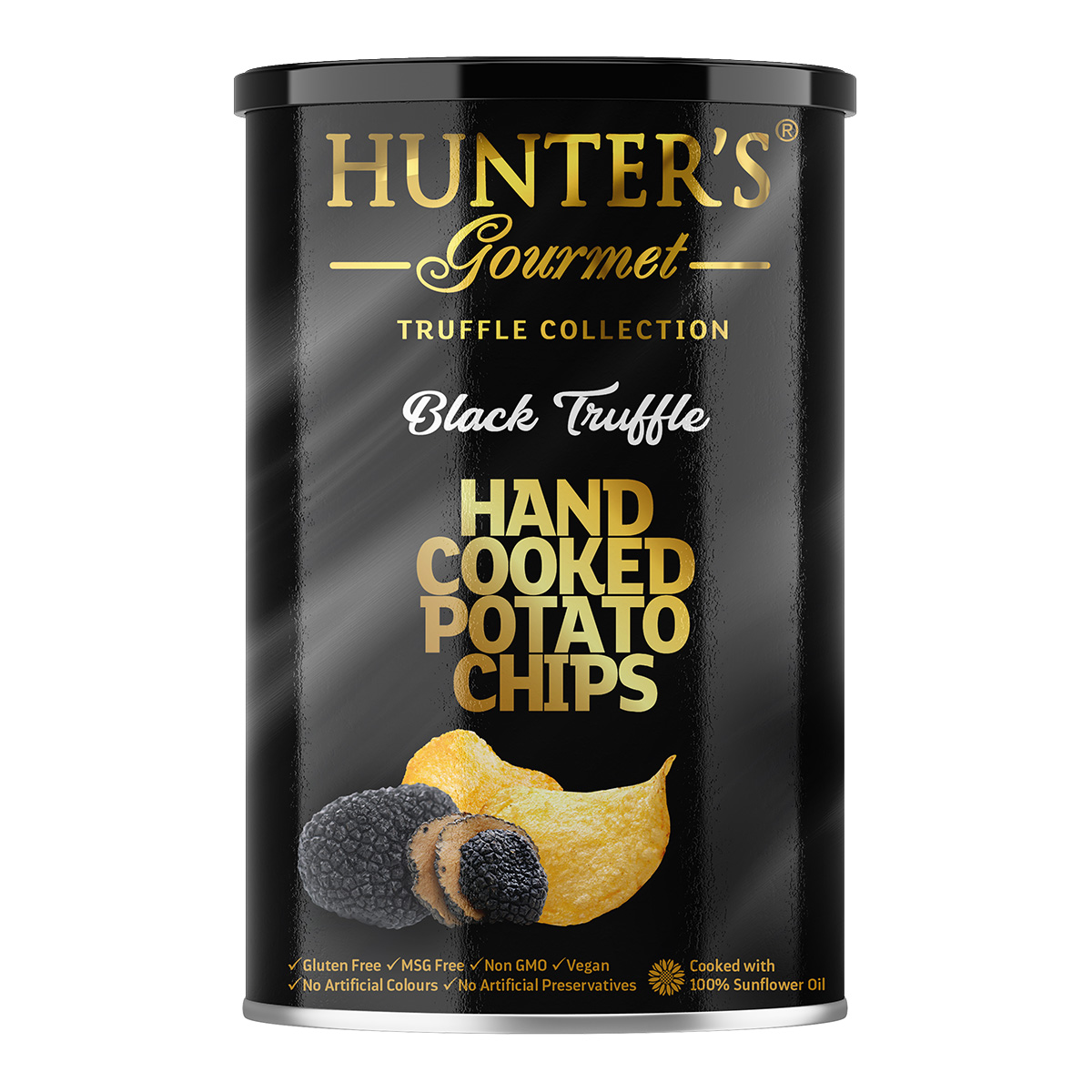 Hunter's Gourmet Hand Cooked Potato Chips – Black Truffle – Truffle Collection (40gm)