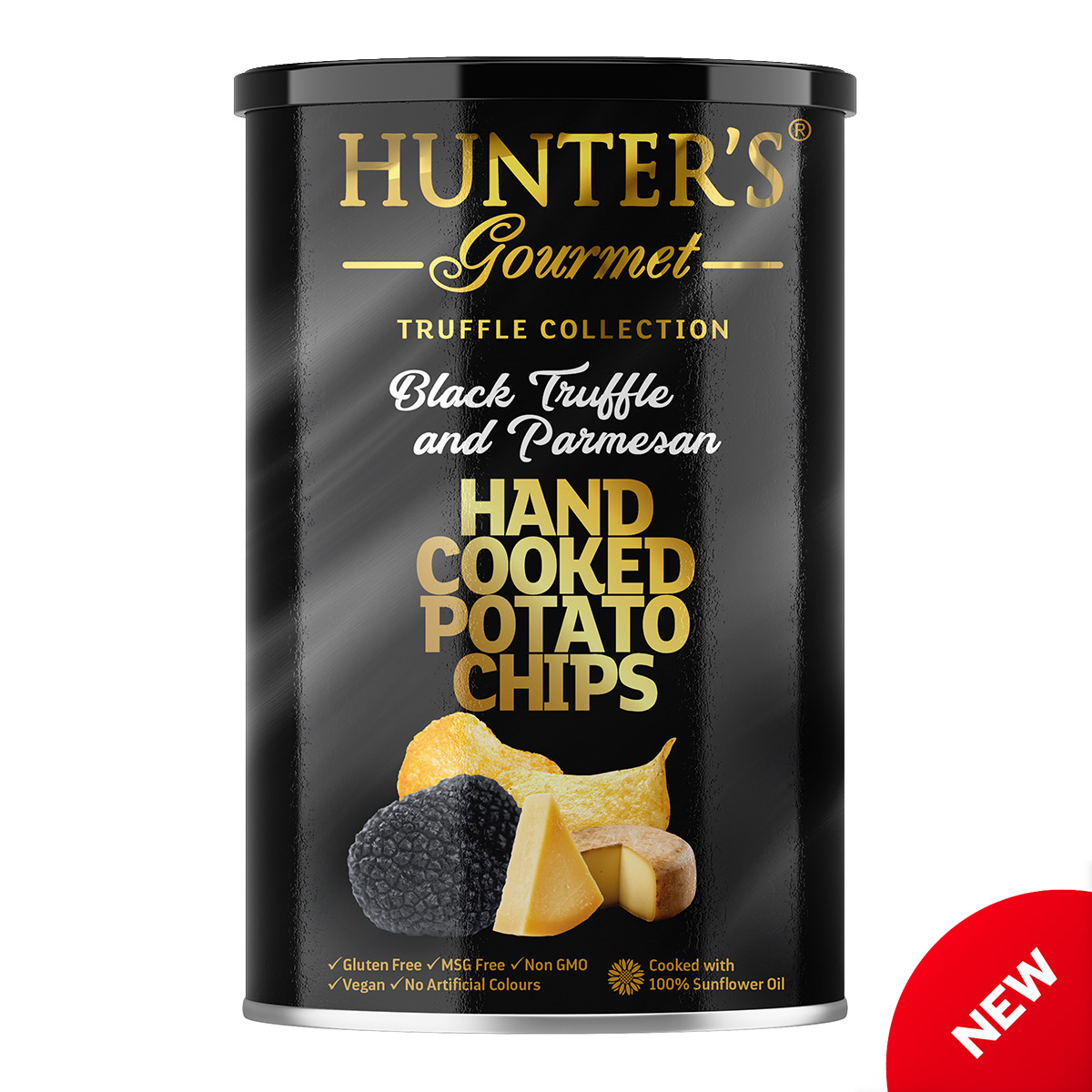 Hunter's Gourmet Hand Cooked Potato Chips – White Truffle and Porcini – Truffle Collection (150gm)