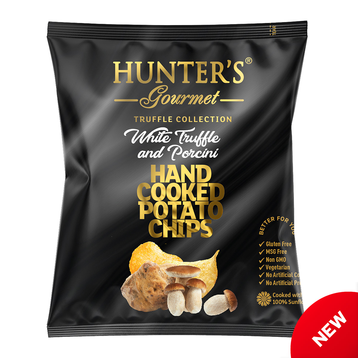 Hunter's Gourmet Hand Cooked Potato Chips – White Truffle – Truffle Collection (25gm)