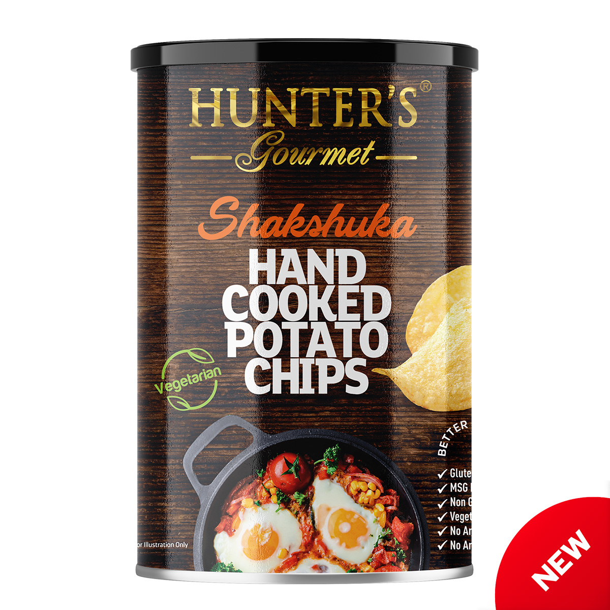 Hunter's Gourmet Hand Cooked Potato Chips – Fattoush – Middle Eastern Flavours (25gm)